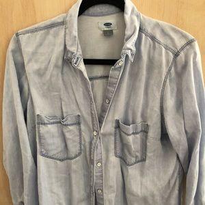 Light wash chambray shirt